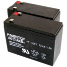 PowerTron 24V Electric Scooter Batteries PT1112 x2