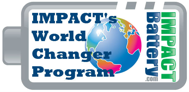 Impact Battery World Changer Logo